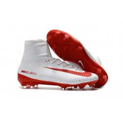 Football Boots For Men Nike Mercurial Superfly 5 FG White Red