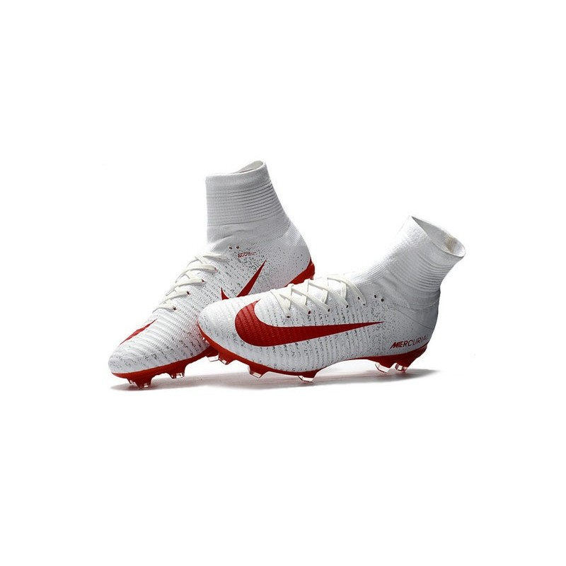 554f08636 Football Boots For Men Nike Mercurial Superfly 5 FG White Red