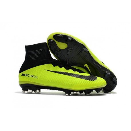 Nike Soccer Cleats - Nike Mercurial Superfly V FG Volt Black
