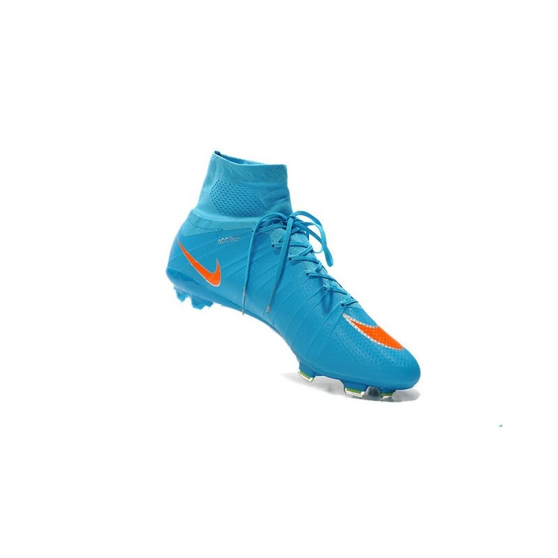 Best Nike Men's Mercurial Superfly IV FG Football Cleats Blue Orange Black