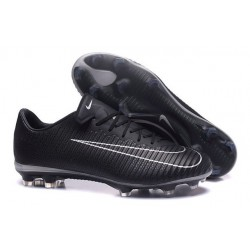 Men's Football Cleats Nike Mercurial Vapor XI FG Black White