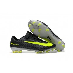 2017 New Shoes - Nike Mercurial Vapor XI FG CR7 Seaweed Volt Hasta White