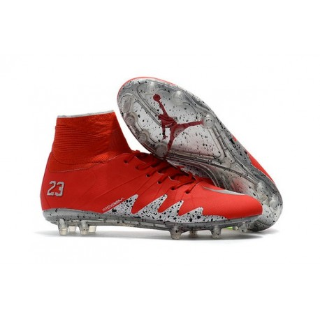 Shoes For Men Nike HyperVenom Phantom II FG FG Football Boots Red Silver