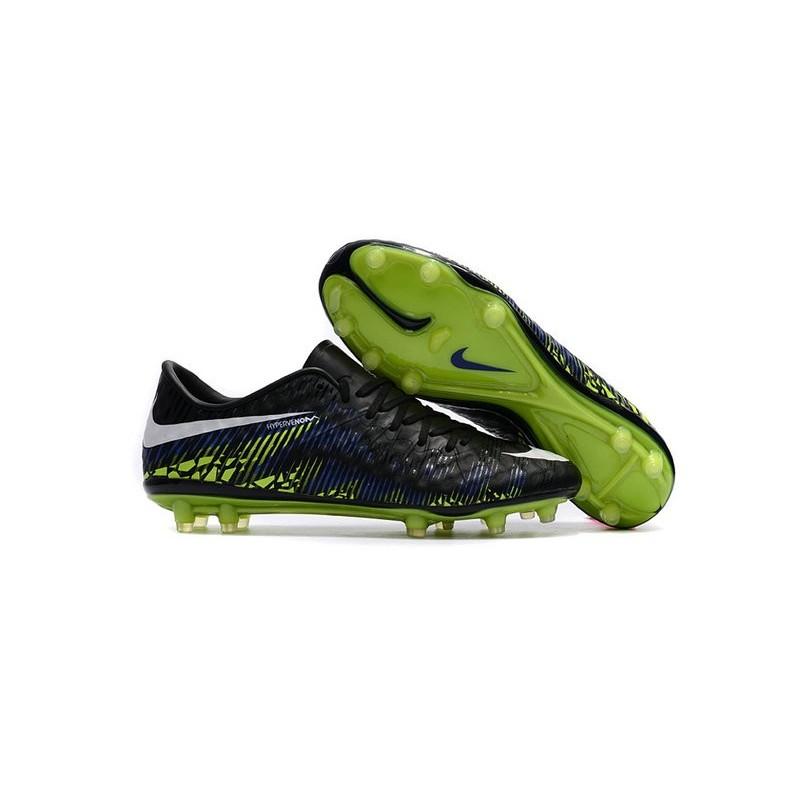 half off b2cff c0233 Best Football Shoes Nike HyperVenom Phinish 2 FG Black Blue Green