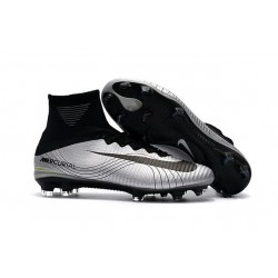 Football Boots For Men Nike Mercurial Superfly 5 FG Silver Black
