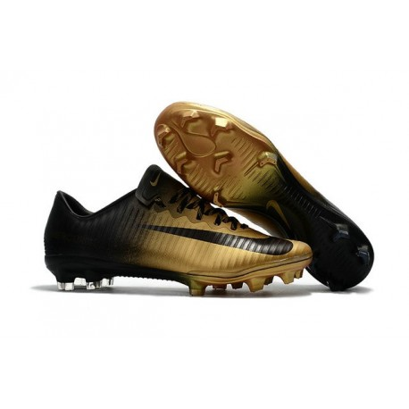 Nike Mercurial Vapor XI FG Soccer Cleats On Sale Black Gold