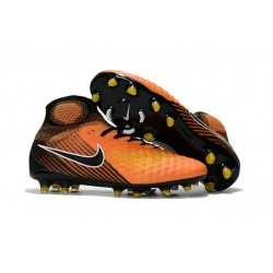 New Nike Magista Obra II FG Soccer Shoes For Sale Orange Yellow Black