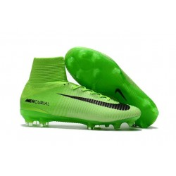 Cheap Soccer Cleats - Nike Mercurial Superfly V FG Electric Green Black Ghost Green