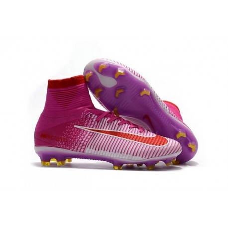 Nike Mercurial Superfly V FG Tech Craft 2017 Pink White Red