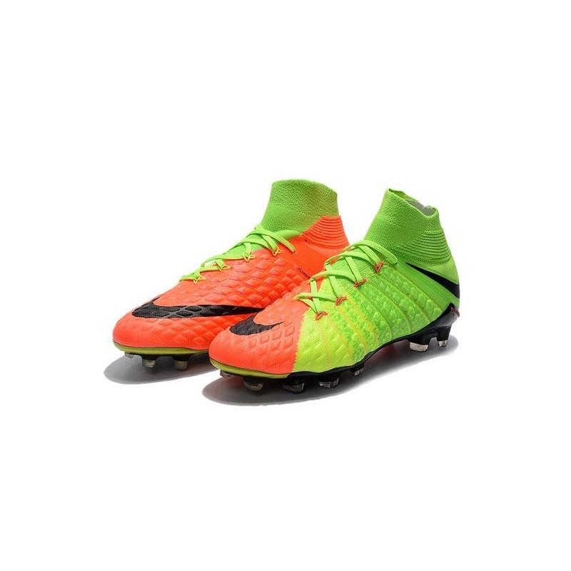 a16c4269b Cheap Nike Hypervenom Phantom III DF FG Men Soccer Cleats Electric Green  Black Hyper Orange