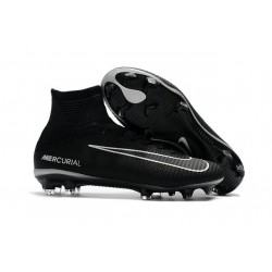 Nike Soccer Cleats - Nike Mercurial Superfly V FG Black Dark Grey