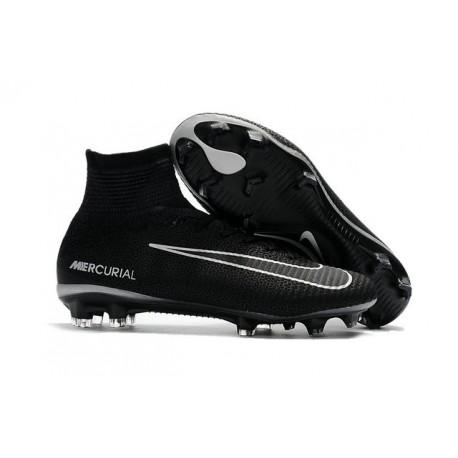 Nike Soccer Cleats - Nike Mercurial Superfly V FG Black Dark Grey