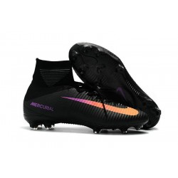 Nike Mercurial Superfly V FG Tech Craft 2017 Black Orange Purple