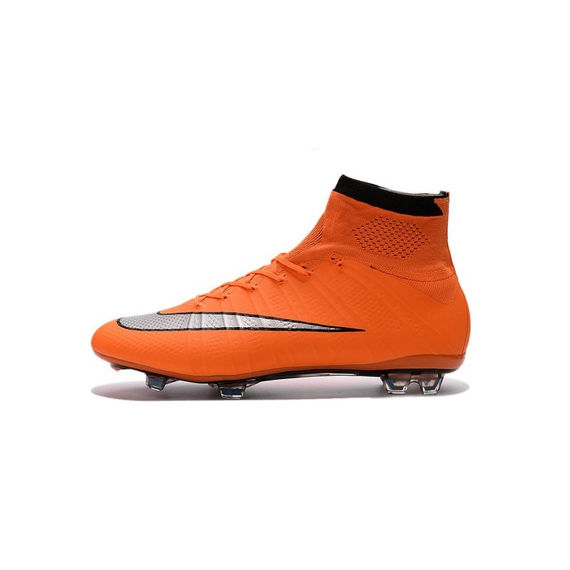 4393651a1eda Nike Mercurial Superfly IV FG Soccer Boots - Orange Black SilveryShoes For  Men