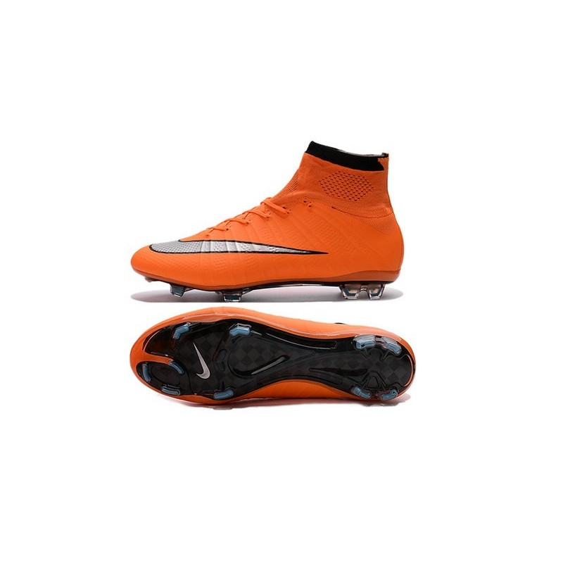 ... Nike Mercurial Superfly IV FG Soccer Boots - Orange Black SilveryShoes  For Men ...
