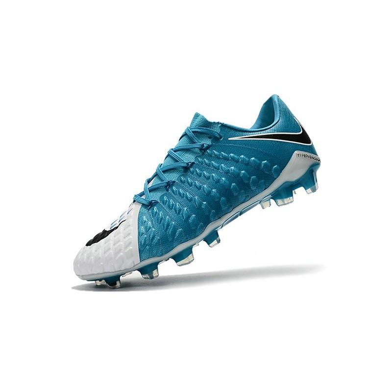 51d3650b021b New Soccer Cleats Nike HyperVenom Phantom III FG White Black Photo Blue