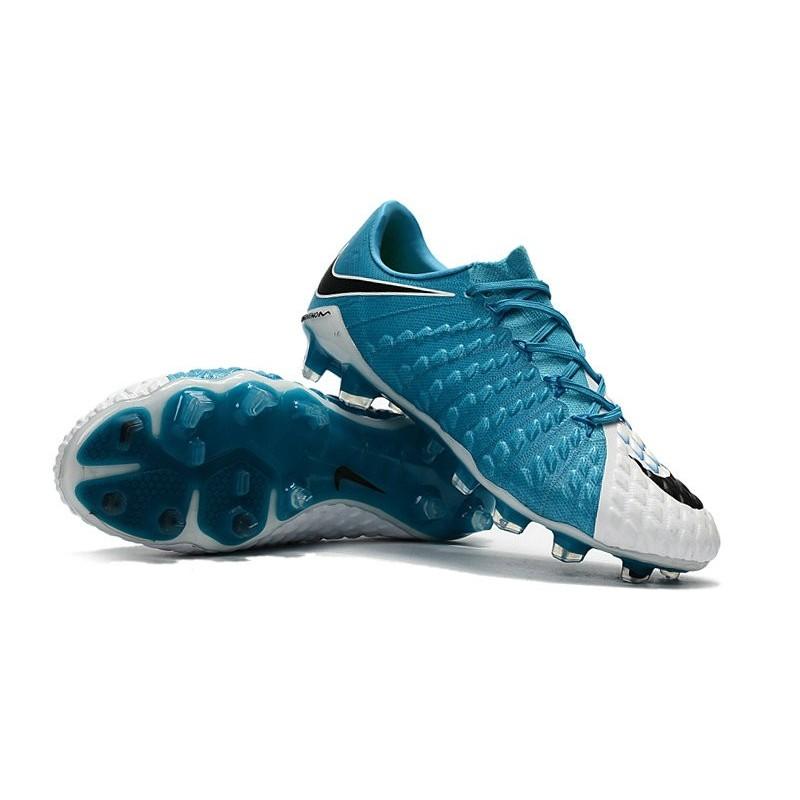 3dda88cbe New Soccer Cleats Nike HyperVenom Phantom III FG White Black Photo Blue