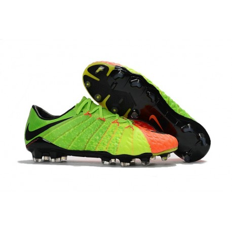 Cheap Soccer Cleats Nike HyperVenom Phantom 3 FG Electric Green Black Hyper Orange