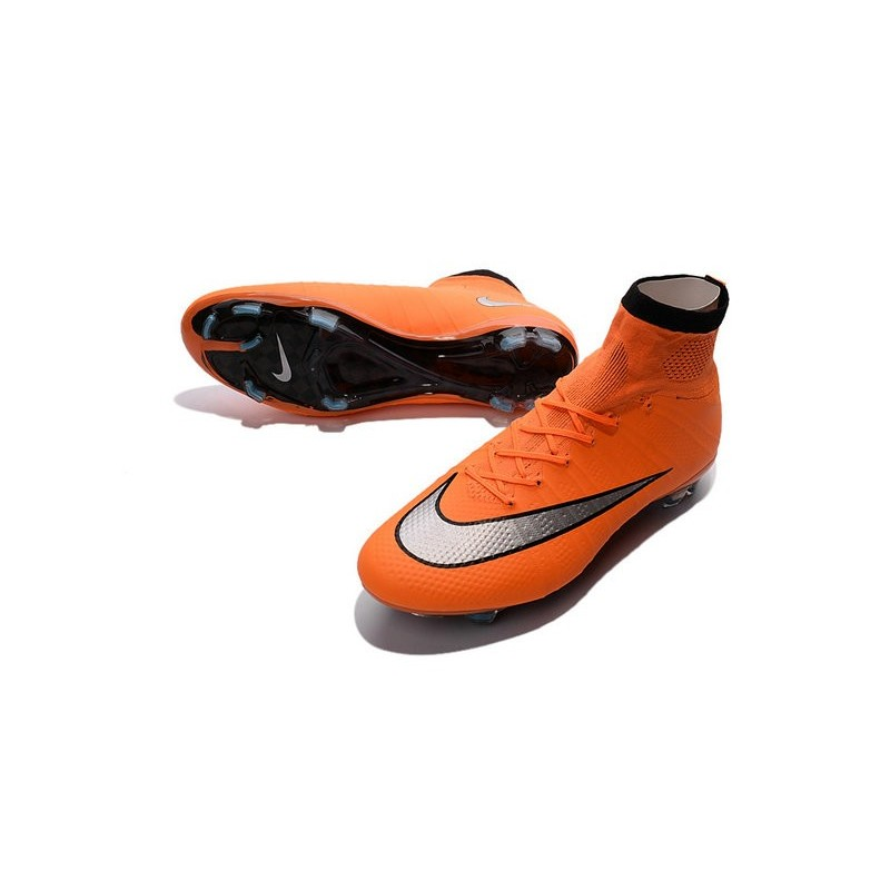 ... denmark nike mercurial superfly iv fg soccer boots orange black  silveryshoes for men 57858 6ca2a 54009ec983a52
