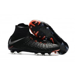 Nike Hypervenom phantom III DF FG Neymar Soccer Shoes Metallic Silver Black Anthracite