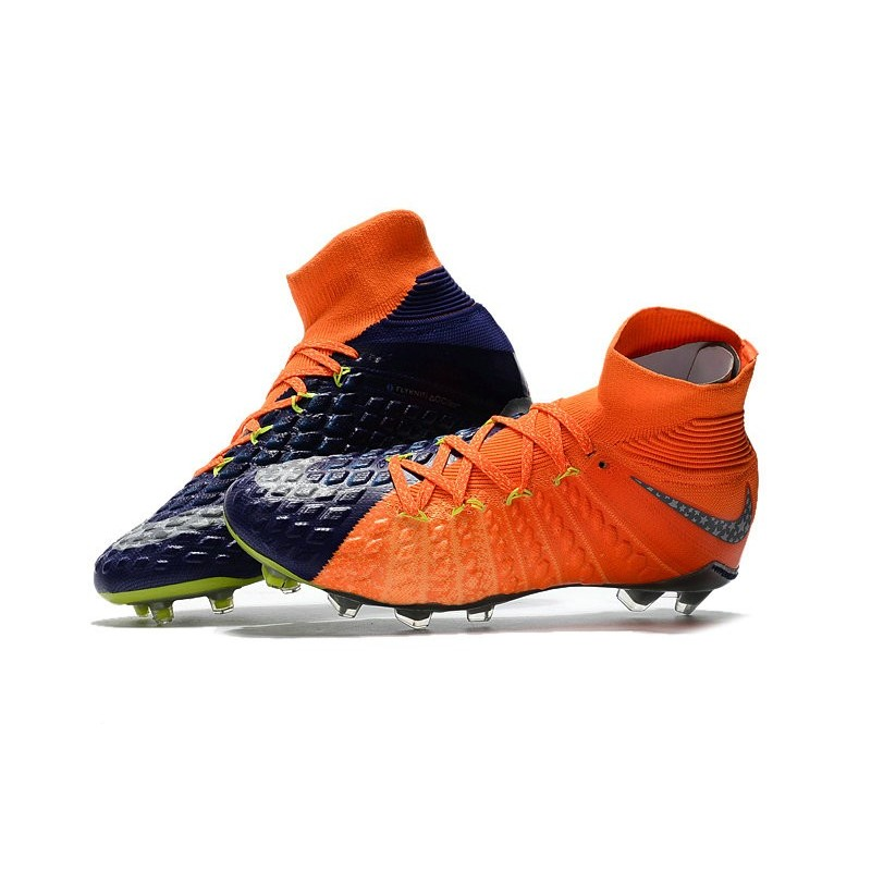 22e0de9d509e ... reduced nike hypervenom phantom iii df fg neymar soccer shoes wolf grey  purple dynasty max orange