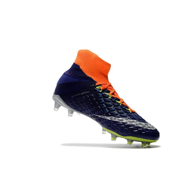 ec0094f83 Nike Hypervenom phantom III DF FG Neymar Soccer Shoes Wolf Grey Purple  Dynasty Max Orange