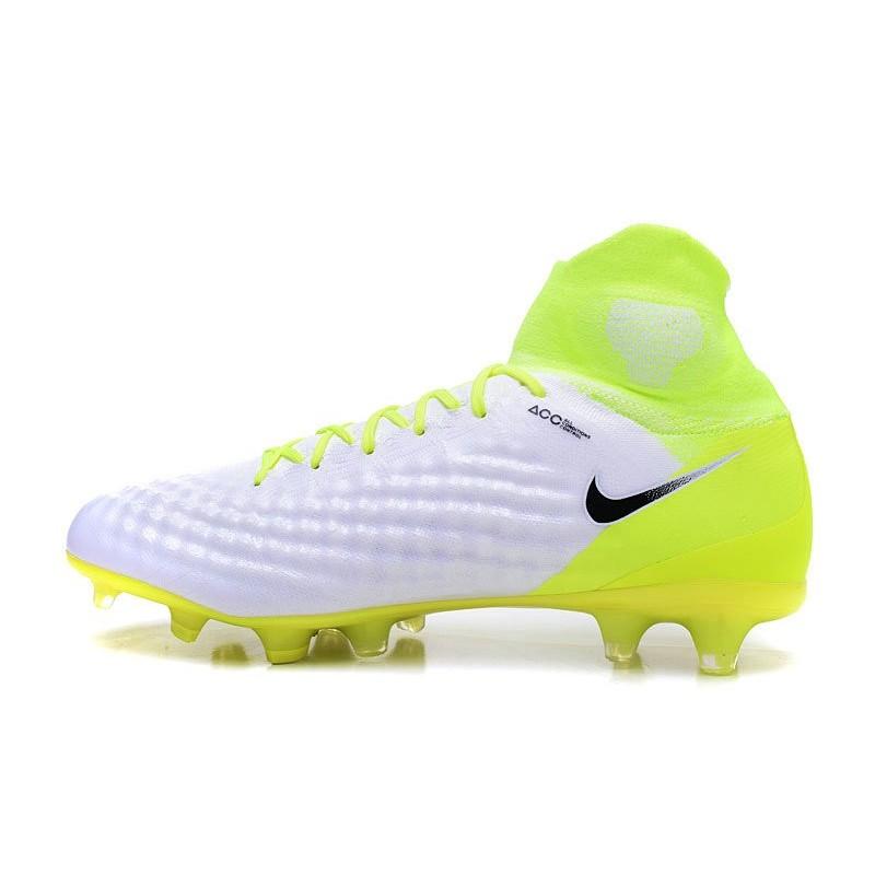 buy popular ba38b 6c5b8 Men Soccer Shoes - Nike Magista Obra II Firm-Ground - White Volt Pure  Platinum