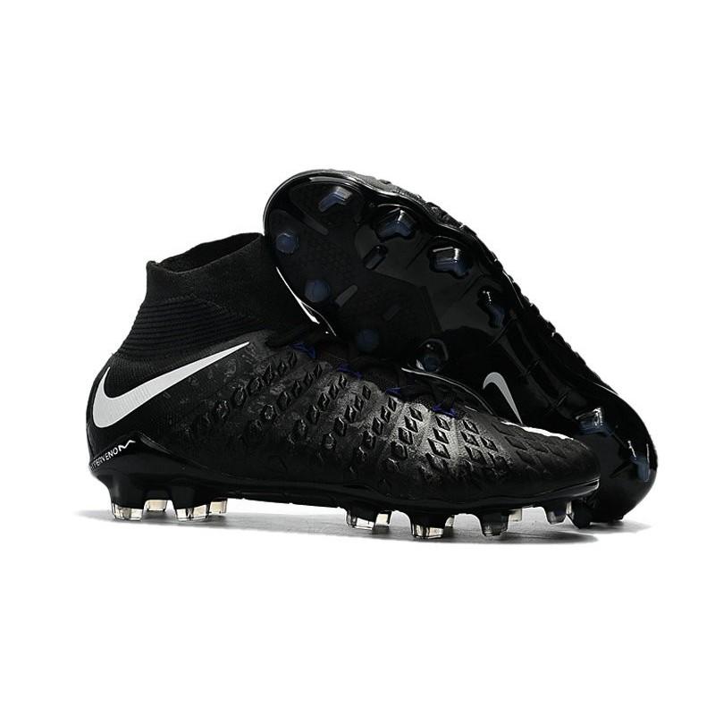 e098d0ef7bb Nike Hypervenom phantom III DF FG Neymar Soccer Shoes Black White