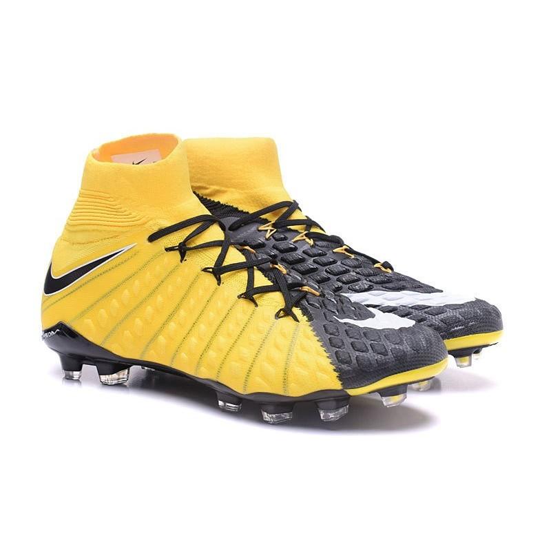 15cb50dc2349 Cheap High Top Nike Hypervenom Phantom III DF FG For Men Yellow Black
