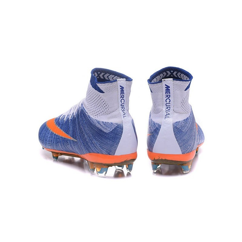 ... low price nike mercurial superfly iv fg soccer boots shoes for men blue  orange white 65165 163ddfded