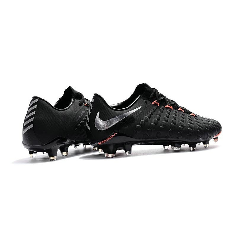 e2cdaa0b8f63 Nike Hypervenom Phantom III FG Mens Boots Firm Ground Black Metallic Silver  Black Anthracite