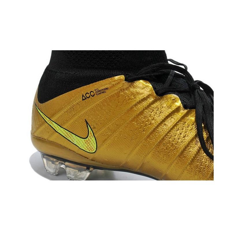 nike soccers shoes gold orange