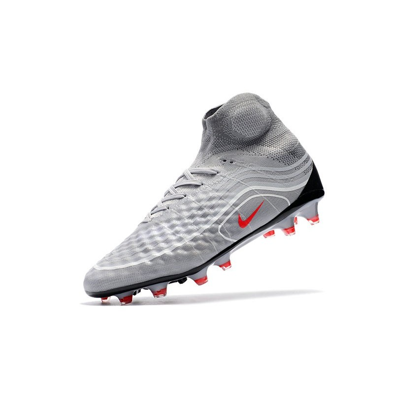 32b96d4e35f1 Nike Soccer Cleats 2017 Magista Obra II Firm-Ground Air Max - Cool Grey  Varsity Red Black