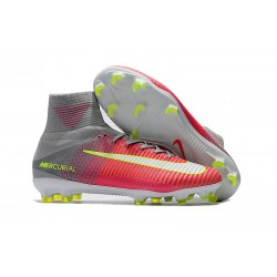 Ronaldo Nike Mercurial Superfly V FG - Mens Soccer Cleats Firm Ground Hyper Pink / White / Wolf Grey