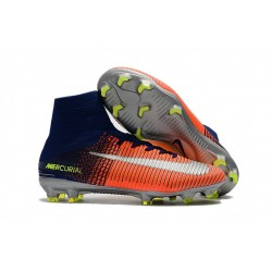 Football Boots For Men Nike Mercurial Superfly 5 FG Orange Yellow Silver
