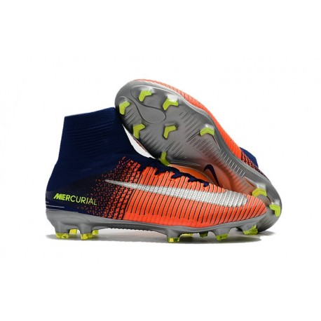 reputable site 667d5 beb63 Football Boots For Men Nike Mercurial Superfly 5 FG Orange ...