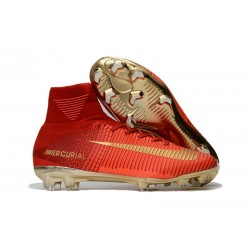 Nike Soccer Cleats - Nike Mercurial Superfly V FG Red Gold