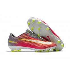 2017 New Shoes - Nike Mercurial Vapor XI FG Pink Grey Yellow