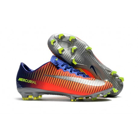 Nike Mercurial Vapor XI FG Soccer Cleats On Sale Deep Royal Blue Chrome Total Crimson