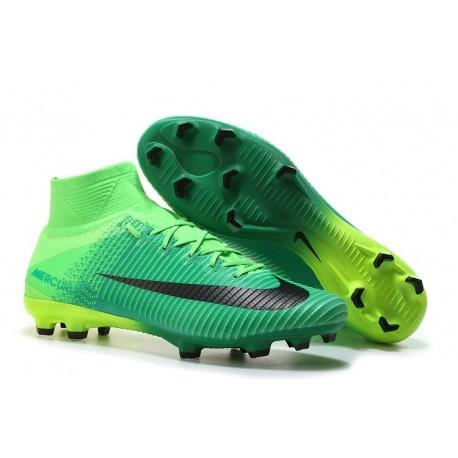Nike Soccer Cleats - Nike Mercurial Superfly V FG Black Green