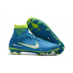 Nike Soccer Cleats - Nike Mercurial Superfly V FG NJR Blue White Volt
