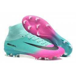 Football Boots For Men Nike Mercurial Superfly 5 FG Pink Blue Black