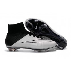 2016 Nike Men's Mercurial Superfly IV FG Football Shoes Leather Black White