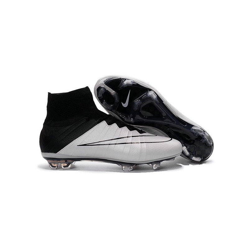 low priced 6cef4 e301f 2016 Nike Mens Mercurial Superfly IV FG Football Shoes Leather Black White