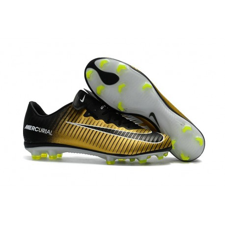 Nike Mercurial Vapor XI FG Soccer Cleats On Sale Gold Black White