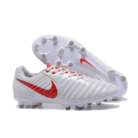 Soccer Shoes For Men Nike Tiempo Legend 7 FG - White Red