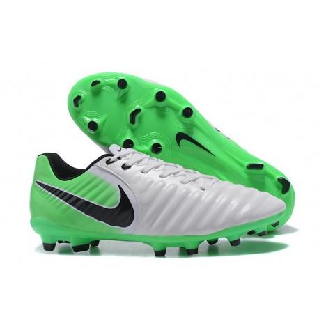 Soccer Shoes For Men Nike Tiempo Legend 7 FG - White Green Black