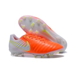 Soccer Shoes For Men Nike Tiempo Legend 7 FG - Orange White