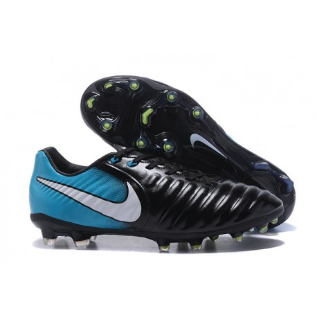Football Cleats Nike Tiempo Legend VII FG - Black Blue White
