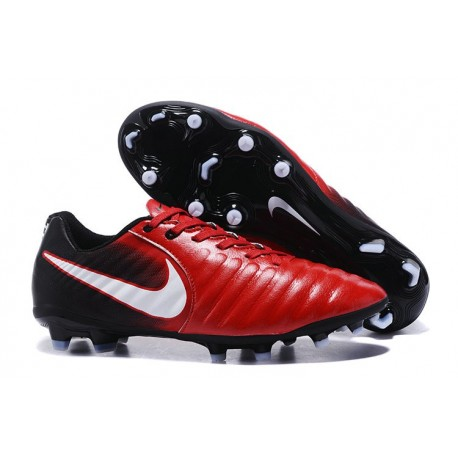 Soccer Shoes For Men Nike Tiempo Legend 7 FG - Red Black White